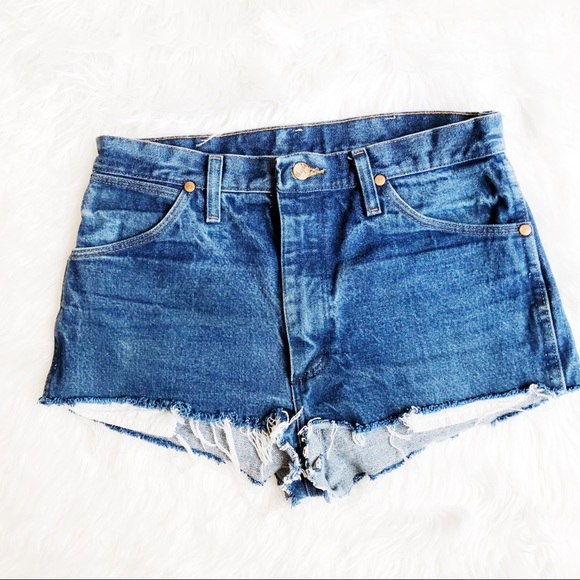 Wrangler Pants - Vintage Wrangler Cut Off Denim Shorts Sz 31